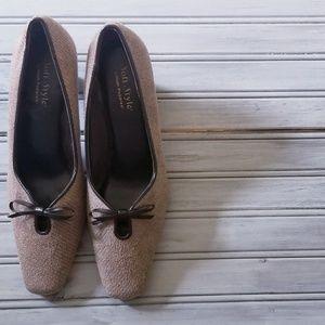 Tan Tweed heels- so cute!